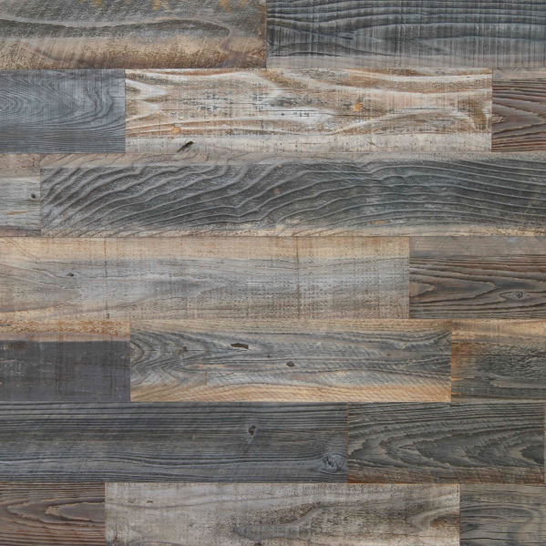 Misty Breeze - Mixed Grey Brown Reclaimed Wood Panels